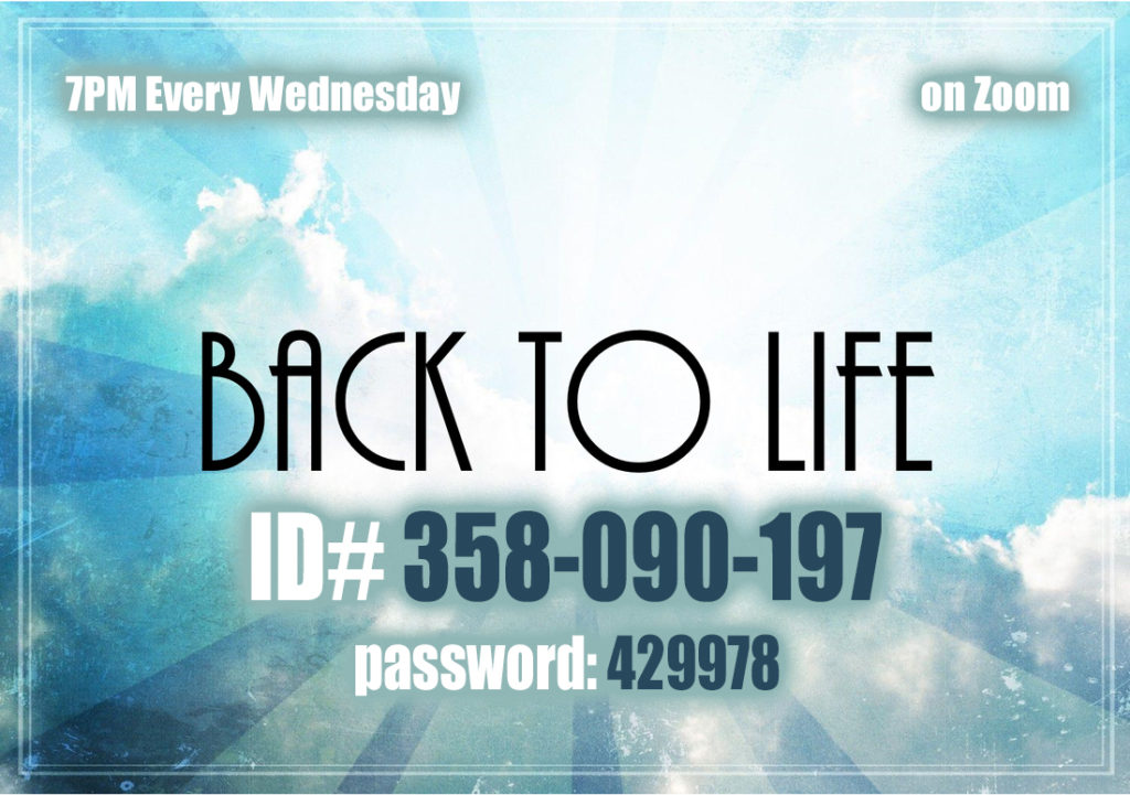 Back To Life @ http://Zoom.us | Webster | New York | United States