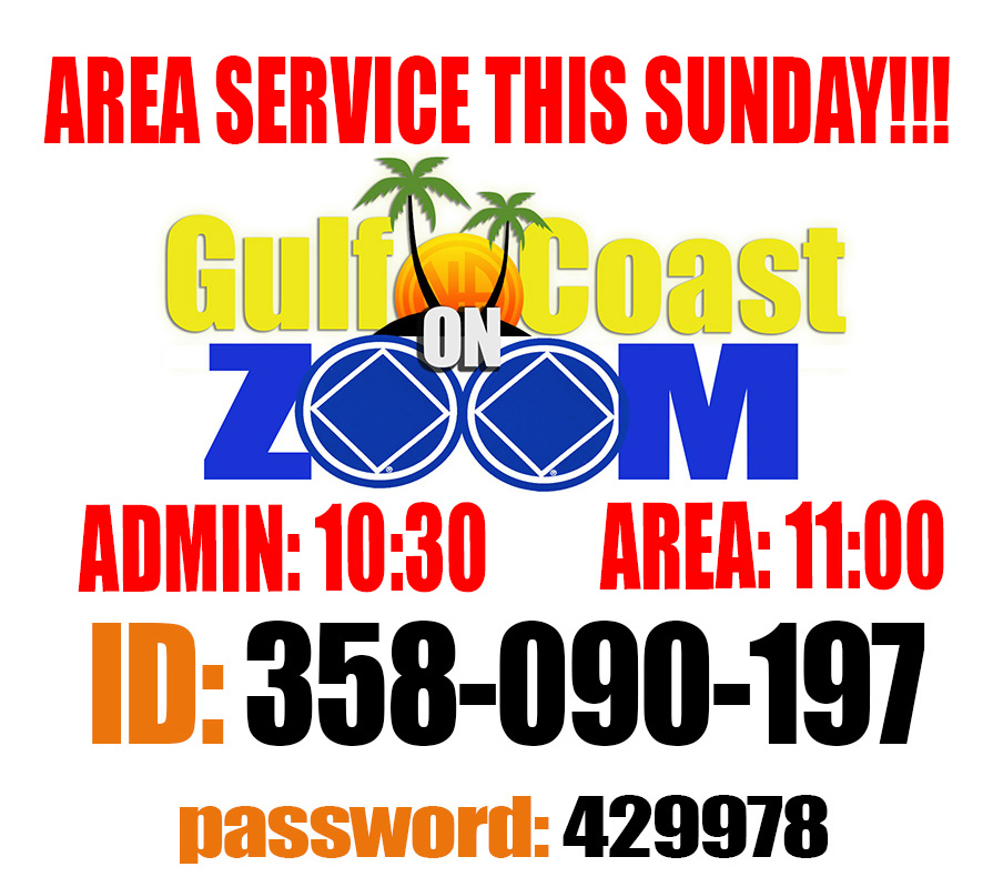 Gulf Coast Area Admin @ On Zoom