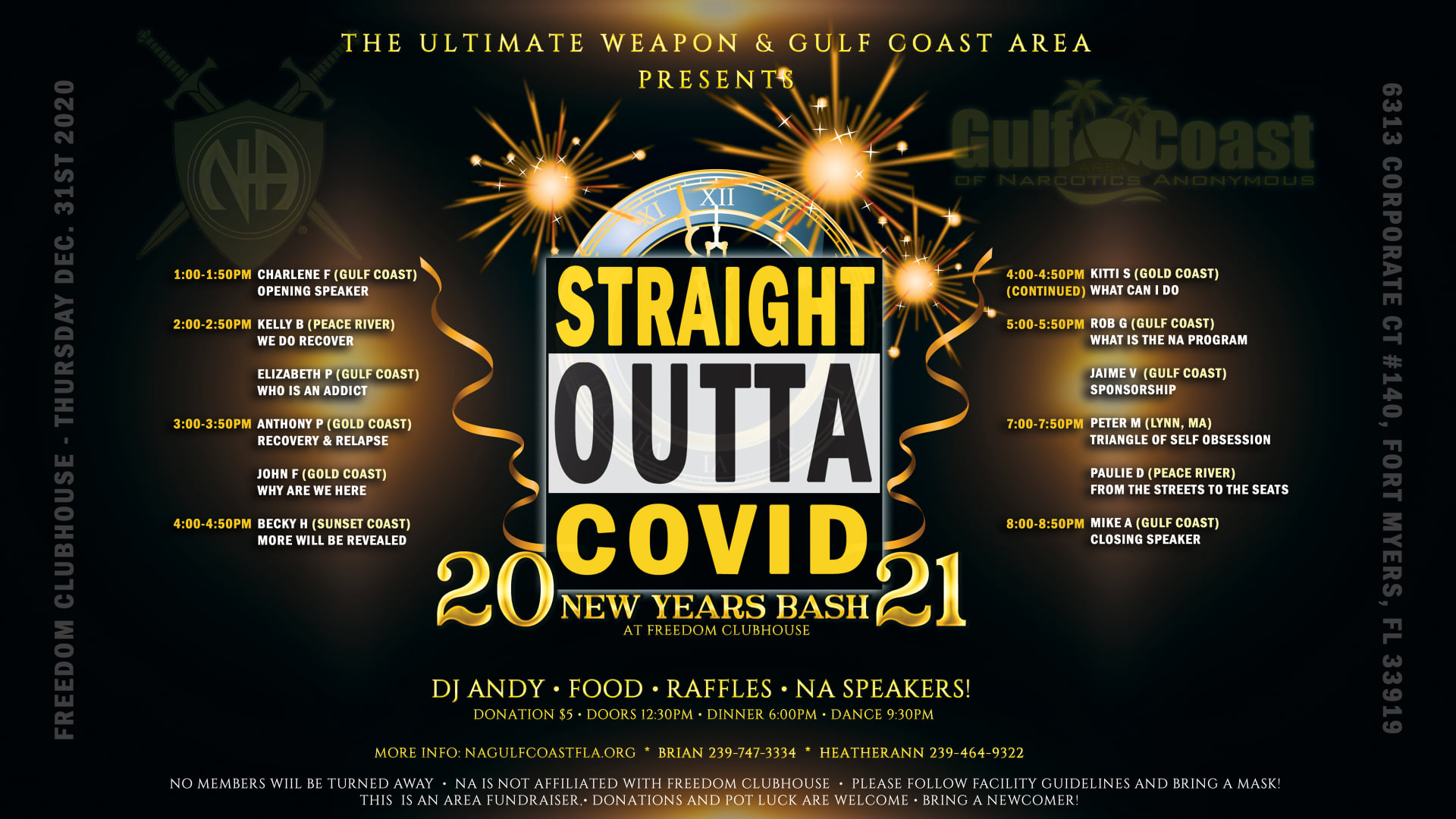 Straight Outta Covid New Years Bash! @ Freedom Clubhouse | Fort Myers | Florida | United States